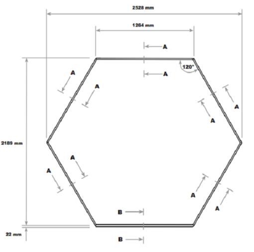 Aiapaviljon Vitavia Hera 4500 R - 2,19m x 2,69m=4,5m²