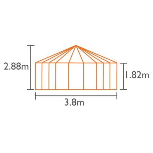 Aiapaviljon Vitavia Hera 9000 H - 3,3m x 3,8m=9 m²