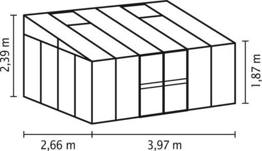 Kasvuhoone Vitavia Helena 10200 - 2,66m x 3,97m =10,56 m2