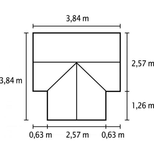 Aiapaviljon Vitavia Sirius R - 3,84m x 3,84m = 13m²