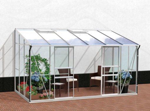 Seinaäärne kasvuhoone Vitavia Ida 7800 - 2,01m x 3,87m=7,8 m²